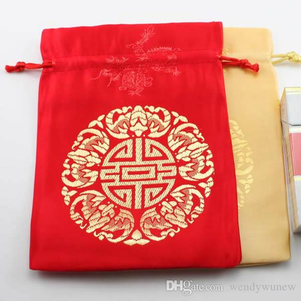 03975b857bb4b 2019 Jewelry Drawstring Bags, Satin Gift Packaging Bags, Red And Yellow  Color For Choice, Sold By From Wendywunew, $18.43 | DHgate.Com