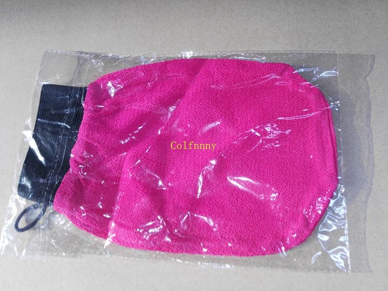Fast shipping Wholesale hammam scrub mitt magic peeling glove exfoliating bath glove morocco scrub glove