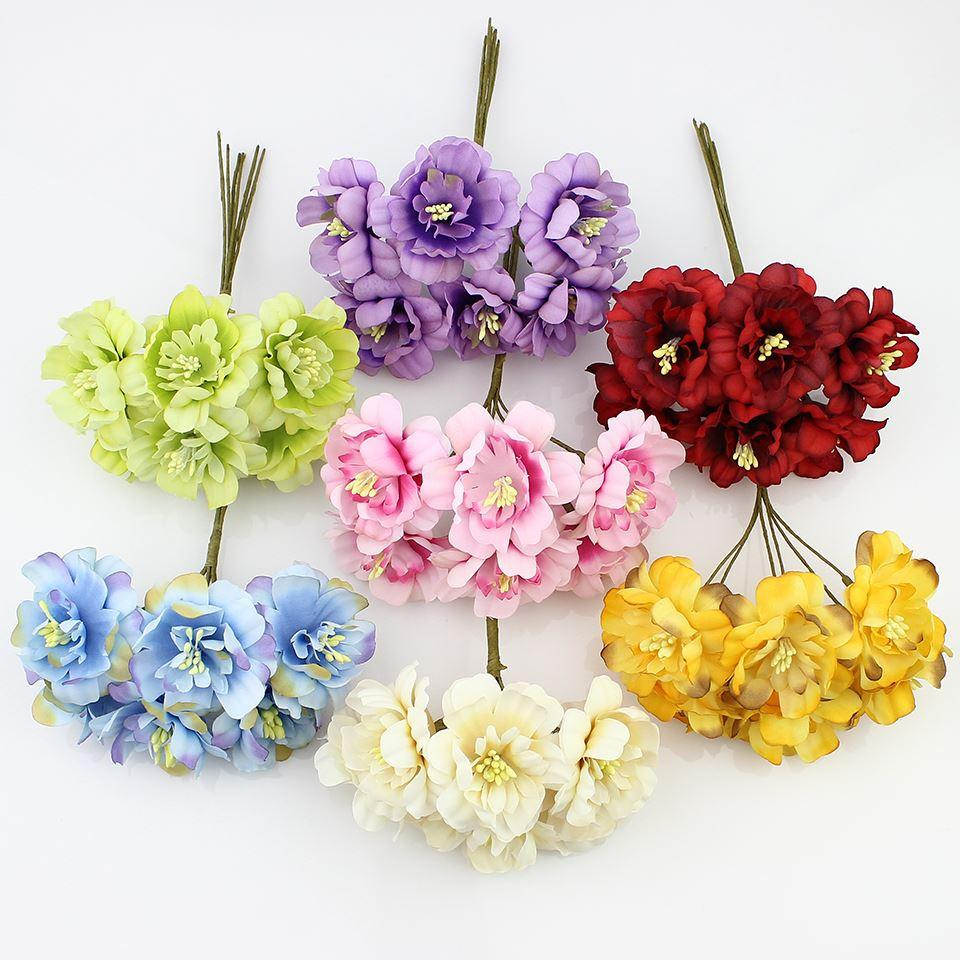 2018 Hot Sale 5cm Artificial Flowers Silk Plum Highland Flower For