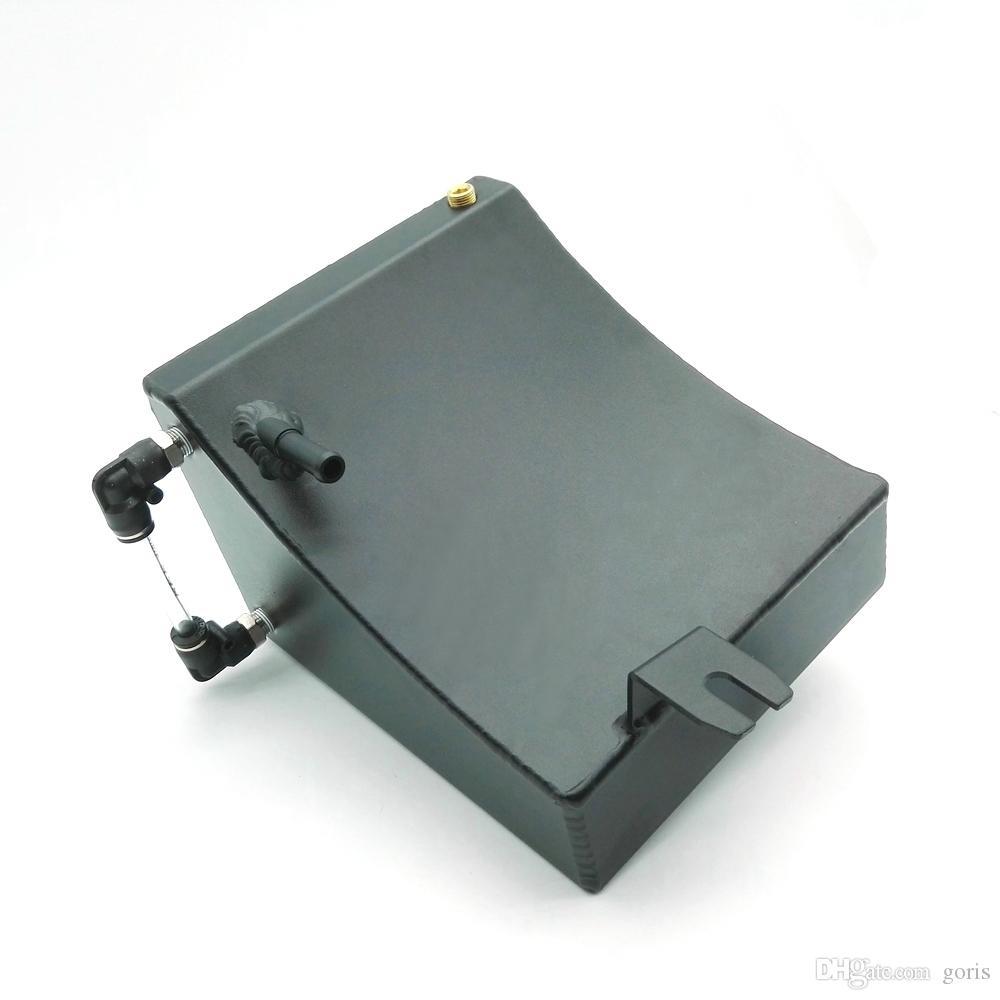 NEUER schwarzer Aluminiumkühler-Kühlmittel-Überlaufkesselwagen für Nissan 240SX S13