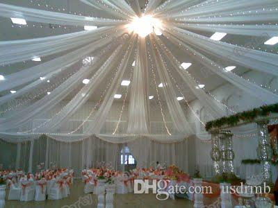 Wedding Roof Drape Canopy Drapery For Decoration Wedding Fabric 10m Length X 0.45m Wide Cloud Decorations Party Cocktail Party Decorations From Usdrmb ... & Wedding Roof Drape Canopy Drapery For Decoration Wedding Fabric ...
