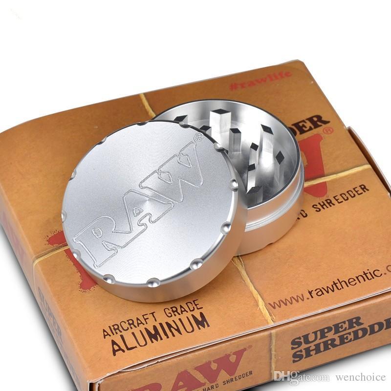 Aluminium brut de broyeur 50mm d'herbe d'épice de tabac brut 2 couches faciles à utiliser avec l'emballage de haute qualité