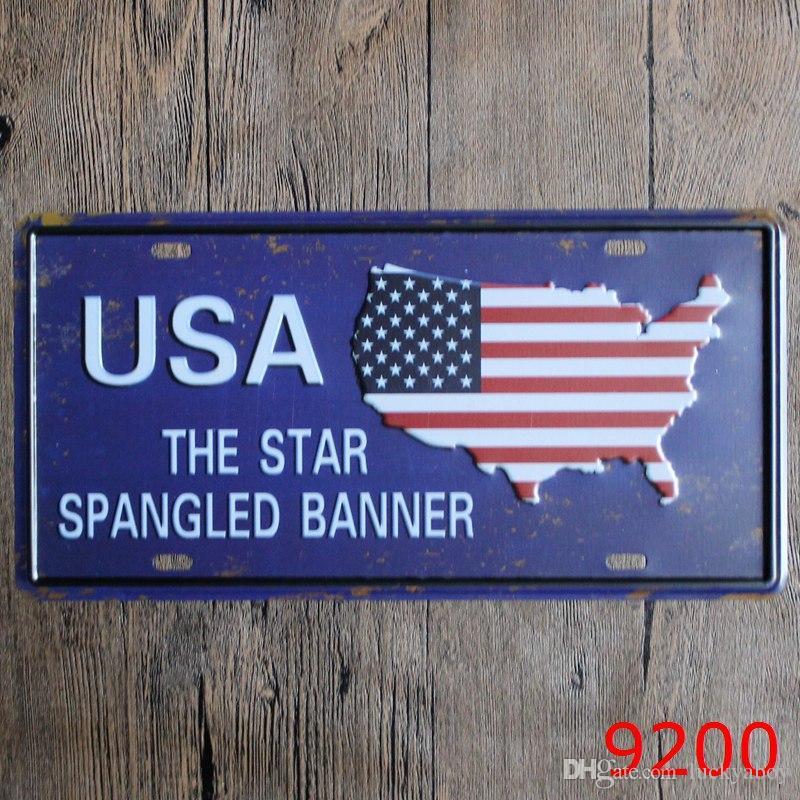 London Sweden Norway Finland England USA Car Metal License Plate Vintage Home Decor Tin Sign Bar Pub Cafe Garage Decorative Metal sign