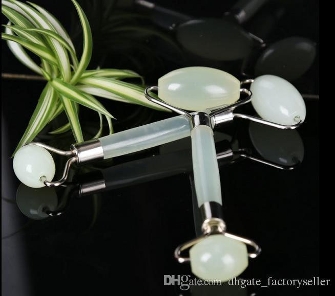 80 шт. Зеленый нефритовый роликовый массажер глаз лица шеи лица релаксация релаксация для похудения инструмент нефрита