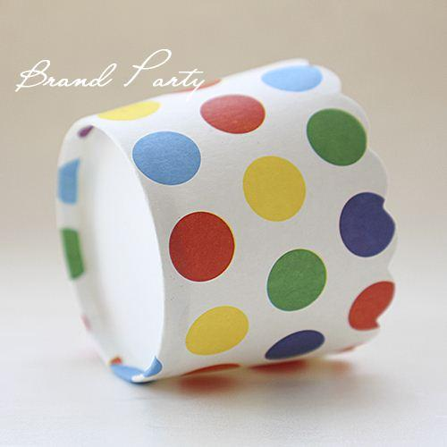 Colorful Polka Dots bulk 100pcs/lot High temperature baking greaseproof paper muffin cases cupcake liners/cases/wrappers cupcake