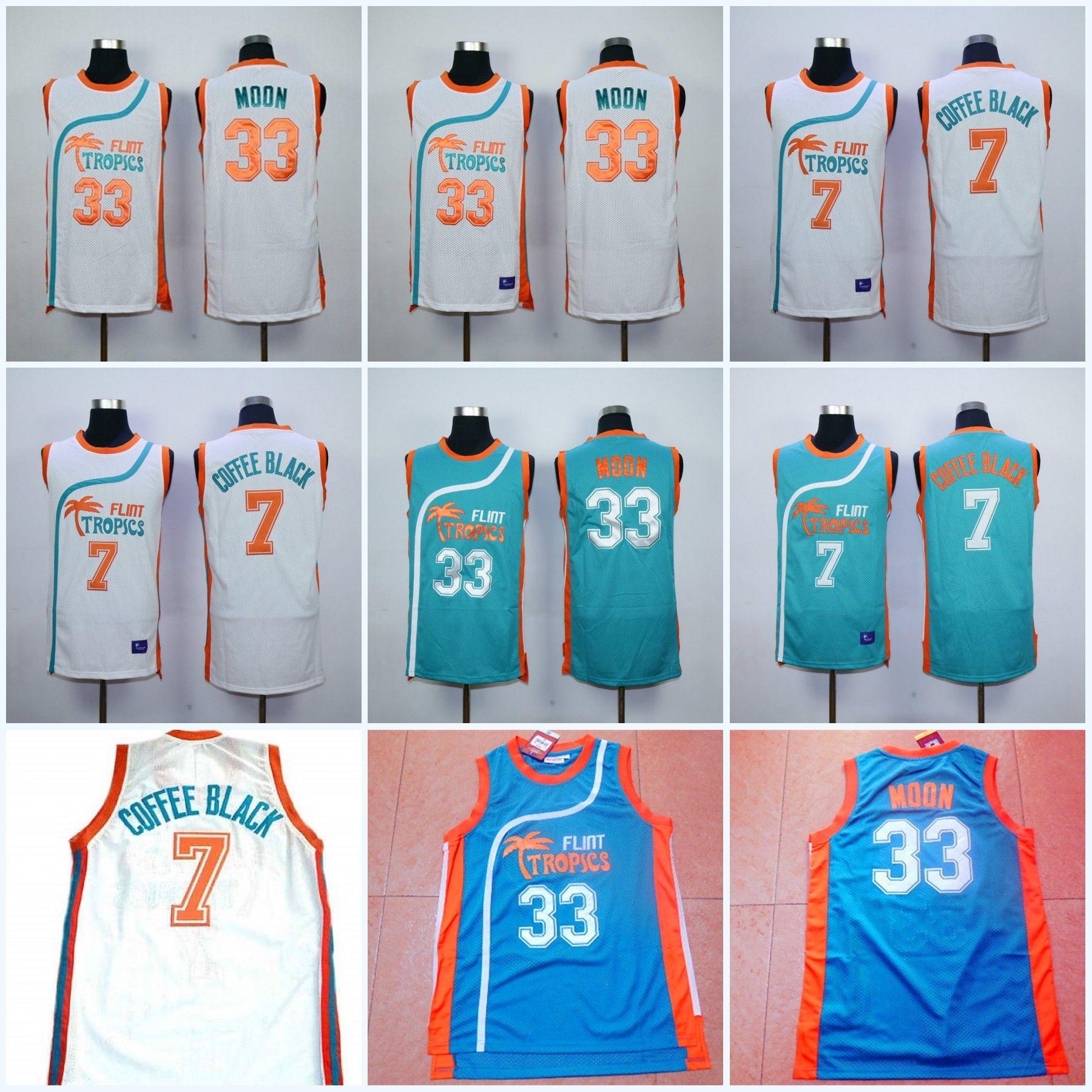2019 Flint Tropics Semi Pro Movie Jerseys 33 Jackie Moon 7 Coffee Black 11  Ed Monix Basketball Jerseys All Stitched From Projerseyworld 2e4a23a5c