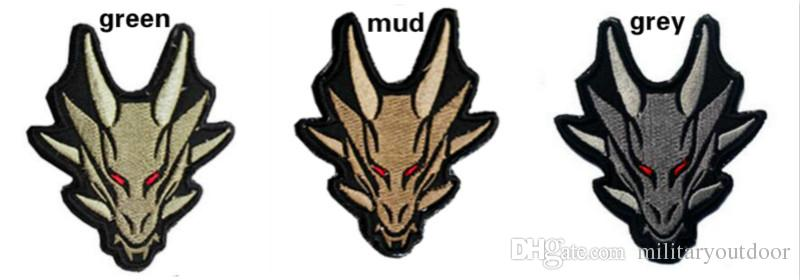 VP-142 High quality 3D Embroidery Badge Chinese Dragon Tactical Monkey/Tiger Patch Morale Patches Hook & Loop Army Armband Badge