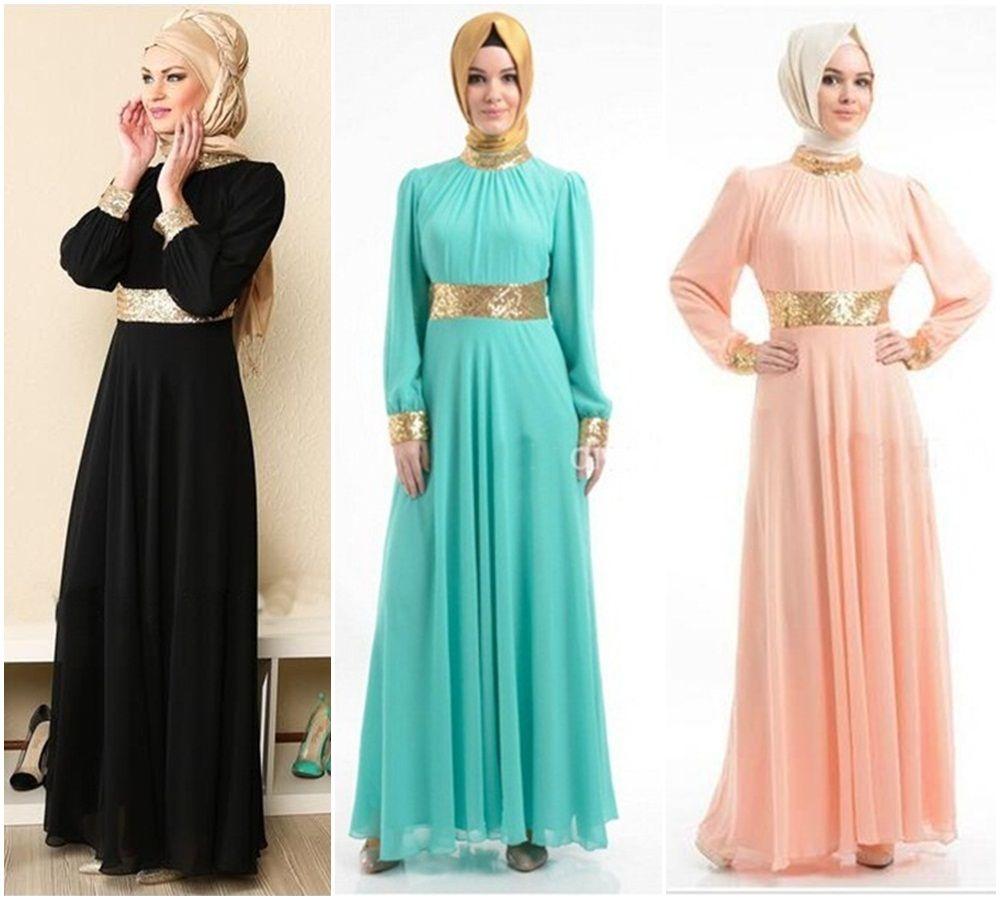 2017soft Twill Cotton Muslim Evening Dress Turkey Women