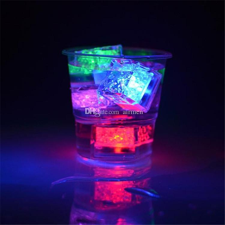 MINI LED Ice Cube Multi Color Changing Flash Lights Crystal Cubes for Party Wedding Event Bars Chirstmas Halloween Party Decorations