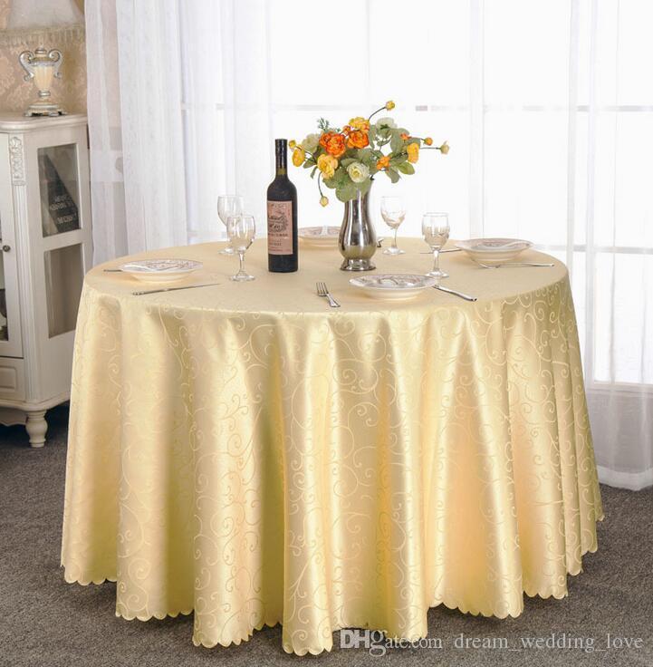 Toalha de mesa de Mesa Tampa redonda para Banquete Festa de Casamento Decoração de Mesas de Cetim Tecido de Mesa Roupas de Casamento Toalha de Mesa de Casa Têxtil WT021