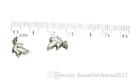 20,50 PCS / Dove DIY Alliage Flottant Locket Charms Fit For Magnetic Living Memory Locket Pendant Fashion Jewelrys