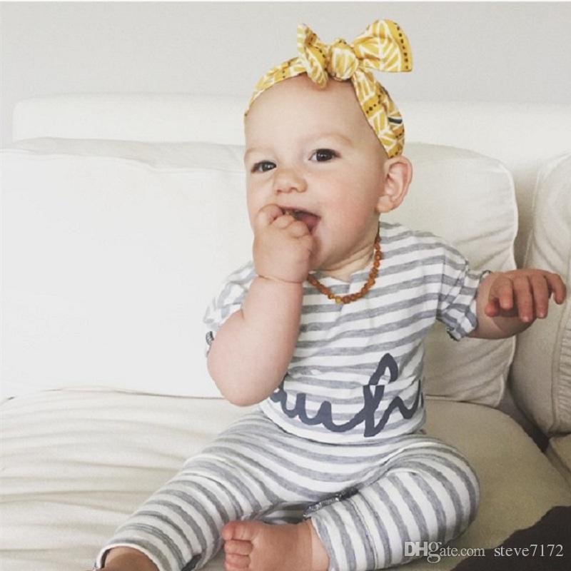 Moda Bebé Mamelucos Verano Bebés Ropa de recién nacidos Jumpsuits Niñas Ropa de una pieza Total Bebe Roupas 100% Algodones de algodón blandos