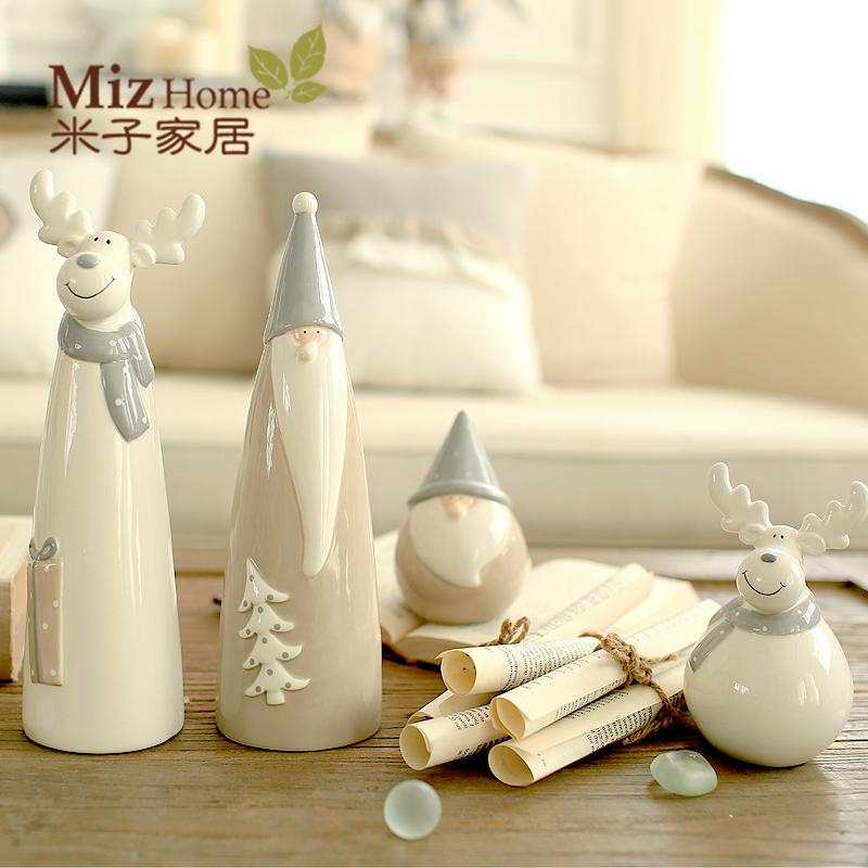 wholesale miz home ceramic christmas decor doll for home santa claus and deer gift for friend nar01001 christmas decorations for home christmas decorations - Ceramic Christmas Decorations