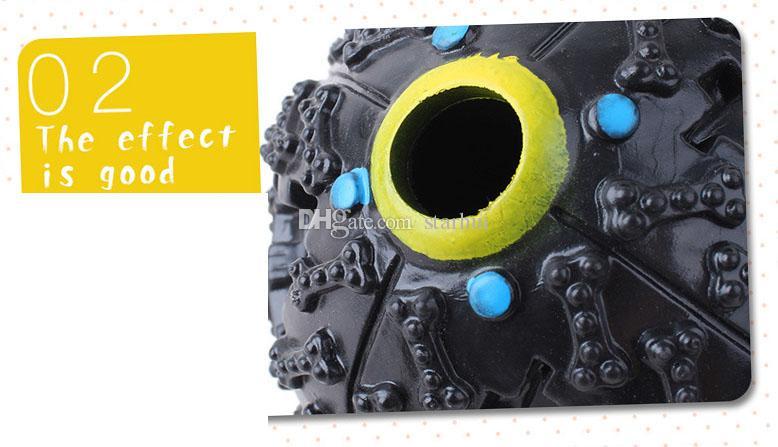 Pet Puppy Dog Bola Brinquedos Squeaky Quack Som Chew Treat Titular Engraçado Jogar Bola Brinquedos Stroage Food Ball S / M / L WX-G18