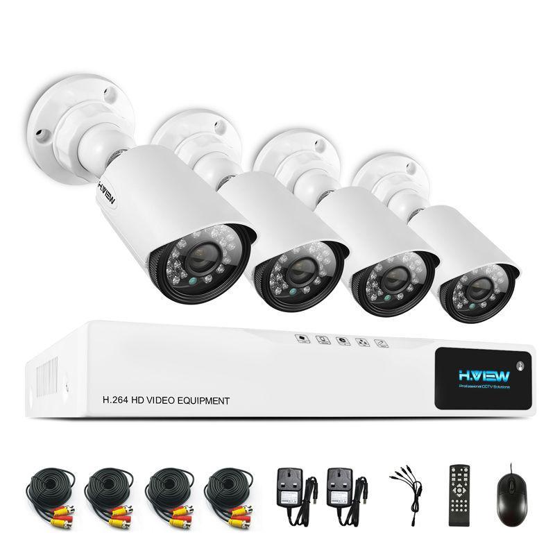 Compre H.View 720 P Sistema De Câmera De Segurança Cctv Sistema De Câmera  De Cctv Cctv 4ch Ahd Dvr 4 720 P Câmera De Segurança Fácil Acesso  Inteligente Ao ... 823e54c631