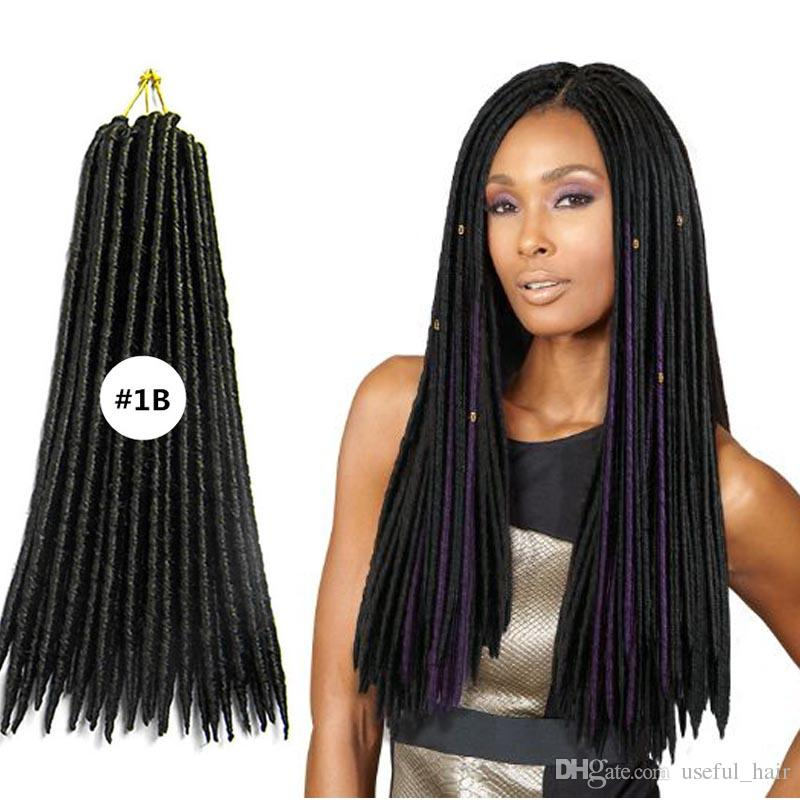 18inch Crochet Braiding Hair Dreadlocks Braids Synthetic Hair