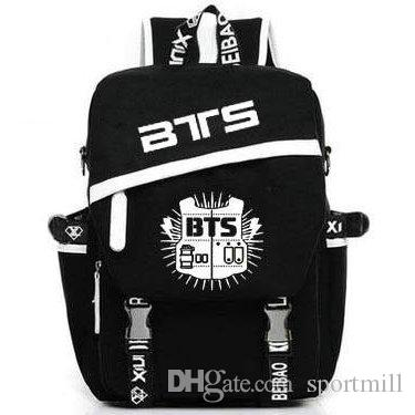 573df0b0d8 2019 BTS Backpack Bangtan Boys School Bag Bulletproof Scouts Daypack Music  Rucksack Outdoor Schoolbag Sport Day Pack From Sportmill