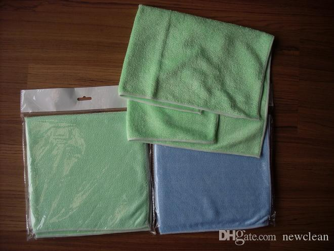 10 pcs 40cmx40cm 420sqm Microfiber Polishing Cleaning Towels Glass Stainless Steel Shine Cloth Window Windshield cloth