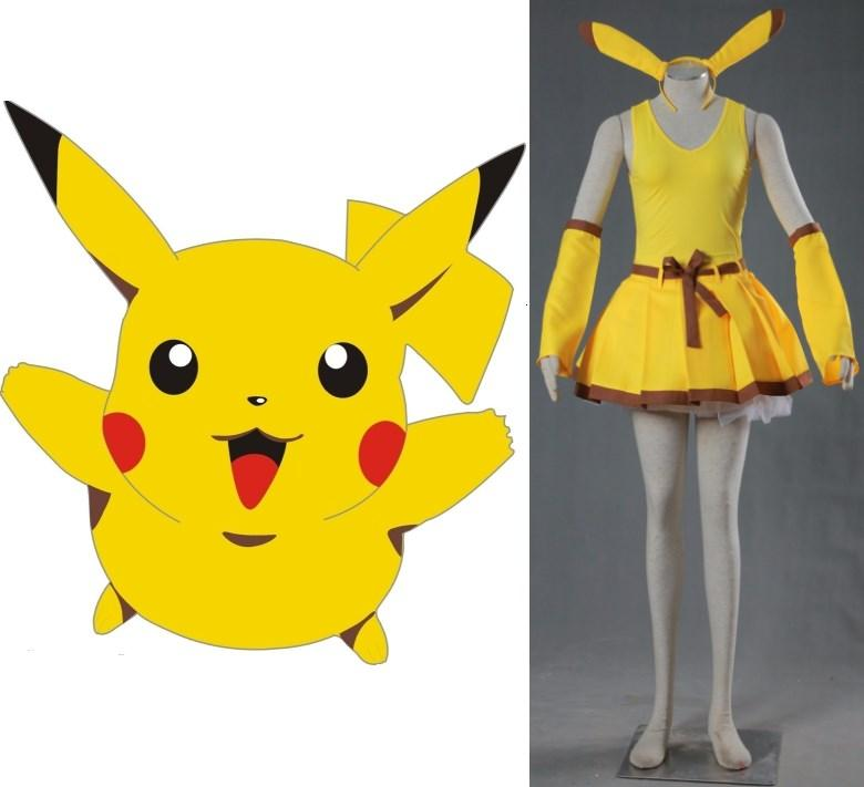 POCKET MONSTERS Pikachu Cosplay Costume Halloween Costumes Costumes Anime  Cheap Cosplay Costume From Hosiyoubi b90d382fc