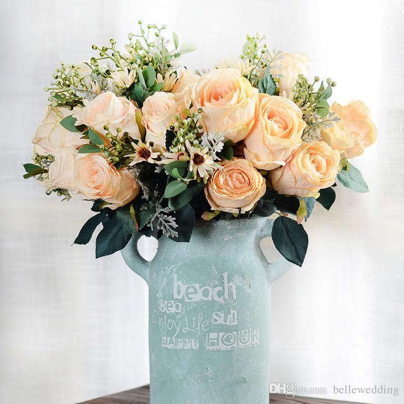 Silk Artificial Flowers For Weddings Decorations Diy Bridal Bouquet ...