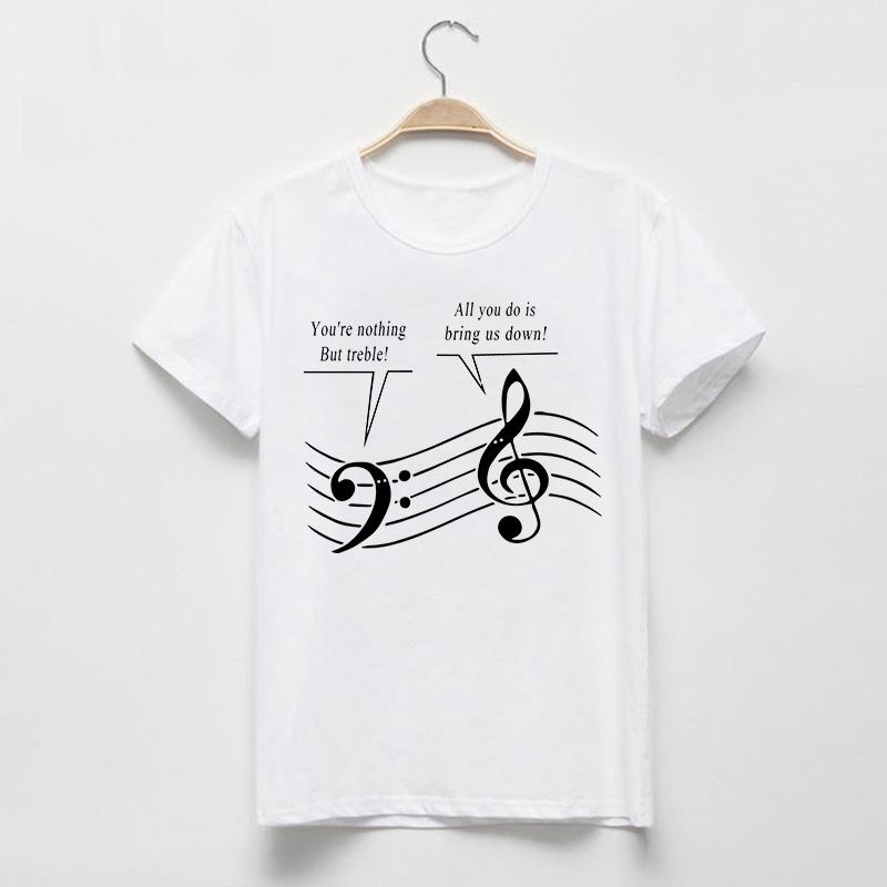 Wholesale Novelty Women T Shirts Nothing But Clever Music Funny ...