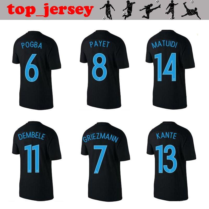 Compre 2017 FRANCE Jersey POGBA Thai Qualidade 17 18 FRANÇA 3ª Preto  GRIEZMANN PAYET DEMBELE KANTE MATUIDI Camisa De Futebol De Top jersey 638d8400f6bfb