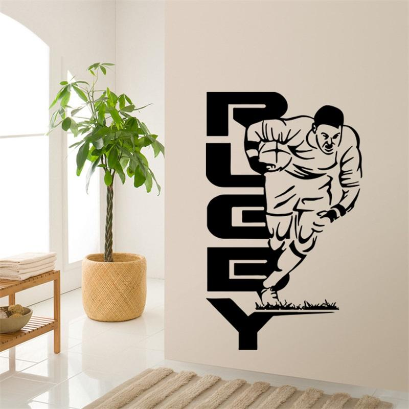 57x94cm Rugby Football Sports Man Figure Large Vinyl Wall Stickers  Removable Art Mural For Home Decoration Kidsu0027 Bedroom Big Stickers For  Walls Big Wall ...