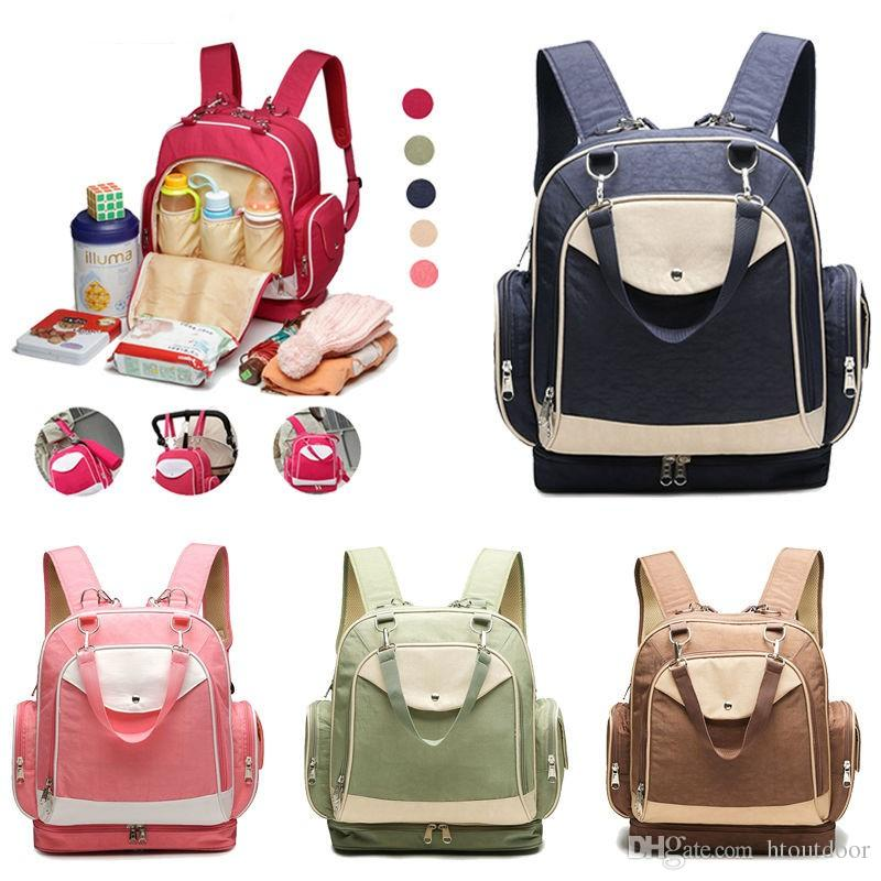 Fashion Casual Mommy Baby Diaper Bag Handbag Organizer Mummy Backpack Outdoor Large Capacity Maternity Nappy Bags Outdoor Travel Pack