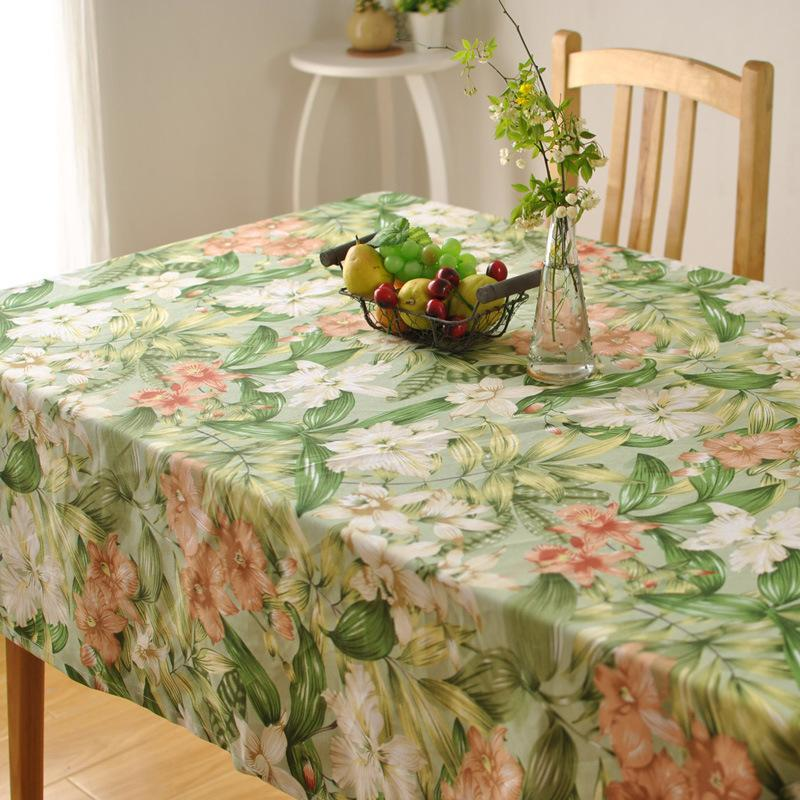 Bz312 Thick Cotton Table Cloth Fresh Leaf Flower Fashion Home Hotel Drape  Factory Outlets American Country Style Cloth Tablecloth Small Tablecloths  From ...