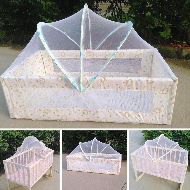 Wholesale- Baby Bed Tent Infant Canopy Folding Anti Mosquito Net Toddlers Crib Cot Netting Baby Bed Tents Crib Mosquito Net Crib Net Online with ... & Wholesale- Baby Bed Tent Infant Canopy Folding Anti Mosquito Net ...