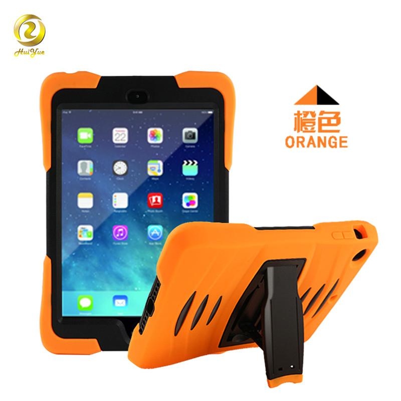 Hybrid Three Layer Rugged Silicone Cover for Apple iPad Min 1/2/3/4/5/6 Air Air2 Pro 9.7 10.5 Armor Shockproof Case with Screen Protector