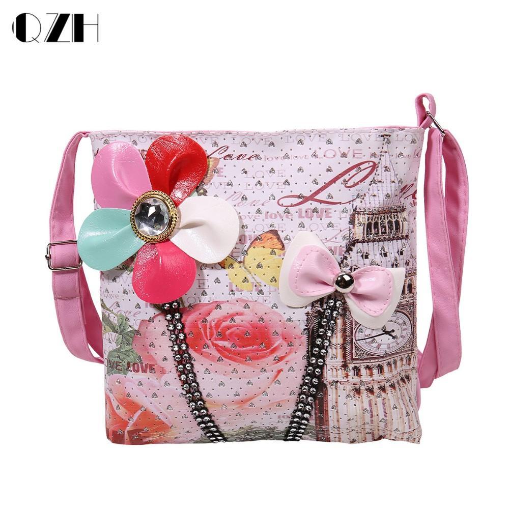 02b0db14a1b Wholesale Fashion Cute Flowers Bow Kids Children Girls Bag Flap Shoulder Bag  Handbag Lovely Messenger Bag Top Quality Bags Purses From Paradise12, ...