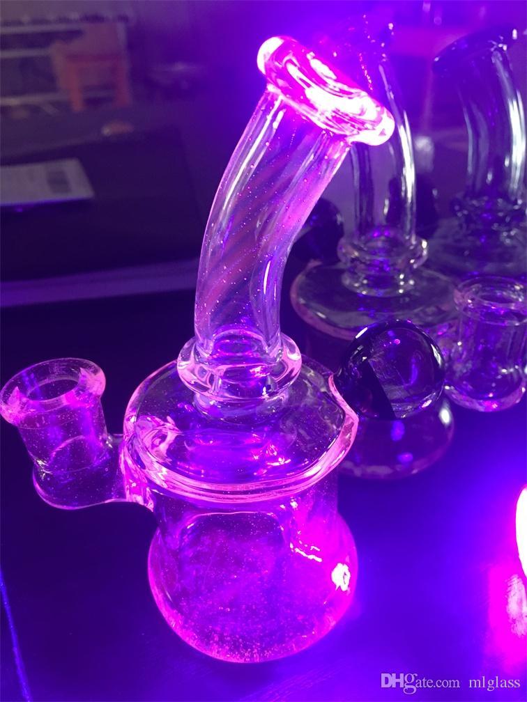 Szkło Hookh, Luminous Oil Ratuj Rura do palenia, Bong 14mm Wspólne Fabryczne Koncesje