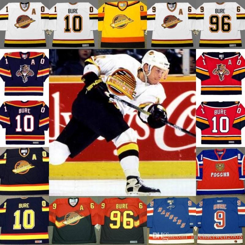 bc05e8aa435 2017 throwback jersey 10 96 pavel bure florida panthers 1999 new york  rangers ...