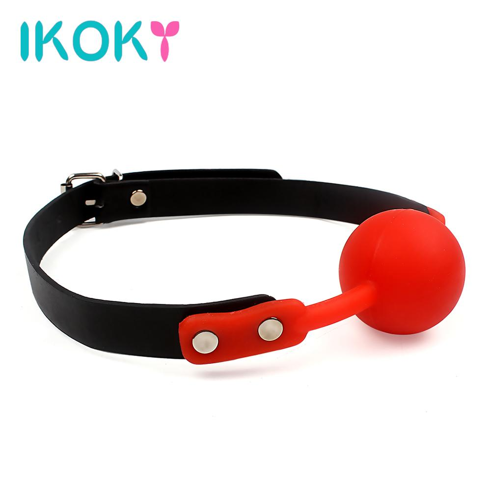 IKOKY Adult Games Open Mouth Gag Ball For Women Couple Leather Mouth Gag  Slave Oral Fixation Stuffed Flirting SM Sex Toys Q170718 Sex Games Car  Games From ...