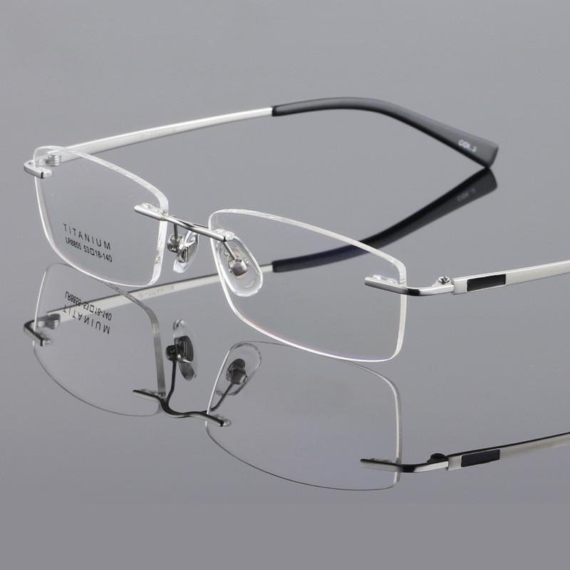 e04c98c0724 Wholesale- Titanium Glasses Frame Titanium Eyeglasses Frame Male Glasses  Myopia Frame Eyeglasses Eyeglass Frames for Women Trends Eyeglass Frame  Parts ...