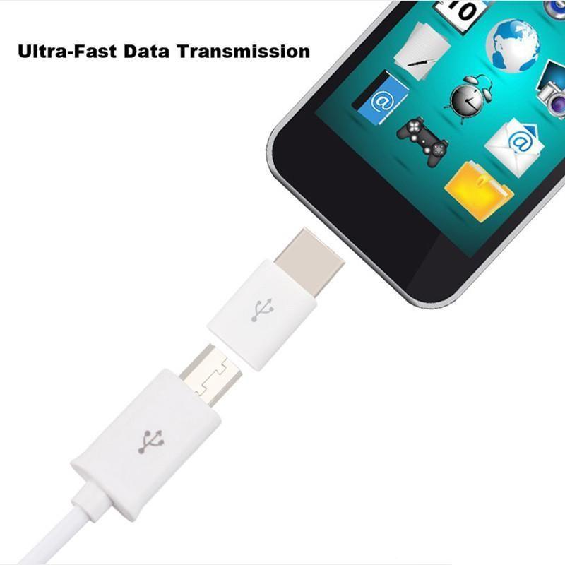 Mini USB 3.1 Typ C Stecker auf Micro USB Buchse Daten Ladegerät Adapter USB-C Typ-C Kabel Konverter für MacBook 12 Zoll OnePlus 2
