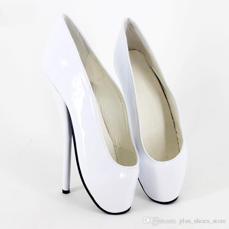 7 zoll Sexy High Heels Ballett Schuhe Frauen Pumpt Slip-on Schwarz Lackleder Shiny Nachtclub Schuhe Sexy Sapato Feminino Party Schuhe