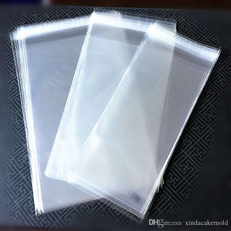 Transparent Ice Cream Package Bag Plastic Popsicle Packing Pouch Self Adhesive Food Bag three Sizes