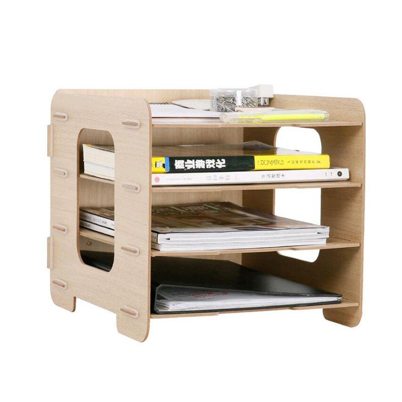 2018 diy wood hand made desk organizer office school supplies desk accessories organizer 4. Black Bedroom Furniture Sets. Home Design Ideas