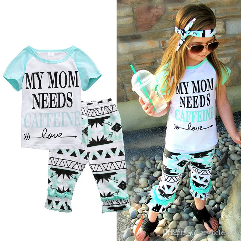 New Baby Clothes Girl Clothing Set Toddler Summer Tracksuit Infant Short Sleeve Shirt Trouser Cotton Legging Pants Sports Suit Kids Playsuit