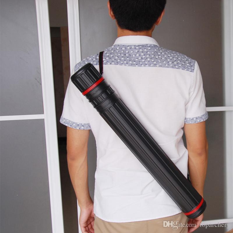 12-Flechas de Arco e flecha Prolongar Telescópica Prolongada Quiver Tubo de Desenho de Plástico de 24 polegadas-39 polegada para a Caça Flechas de Tiro Com Arco Fácil de Transportar