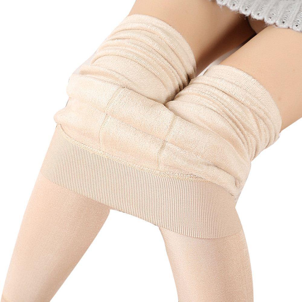 새로운 패션 세 종류의 새로운 여성의 새로운 겨울 두꺼운 따뜻한 양털 열 스트레칭 레깅스 바지를 늘어서있다