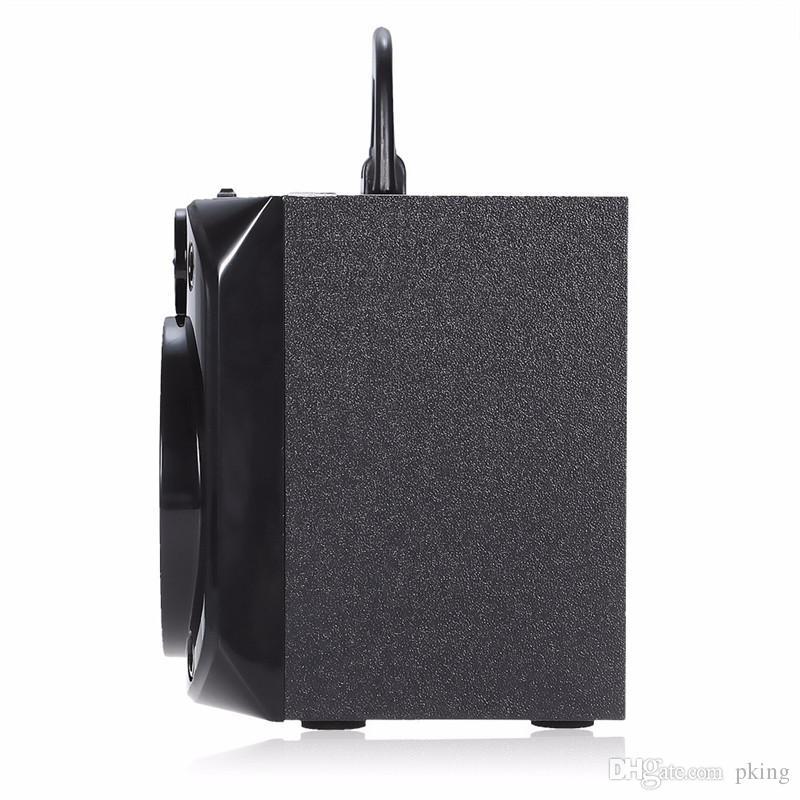 Eonec MS-178BT Support multimédia sans fil Bluetooth Haut-parleur LED Shinning Radio Carte TF Lecture AUX 2 Avertisseurs audio stéréo