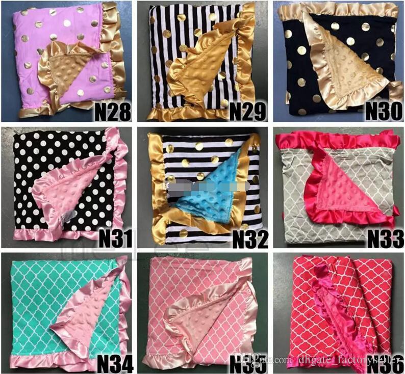 2017 ins baby minky blankets infant zigzag chevron swaddle children flower leopard camouflage blankets boys girls gold dot owl blankets