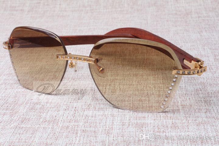 2017 novo estilo de alta qualidade luxo na moda diamante vermelho moda óculos de sol 8100909 lente marrom prata para homem e mulher, tamanho: 60-18-135mm