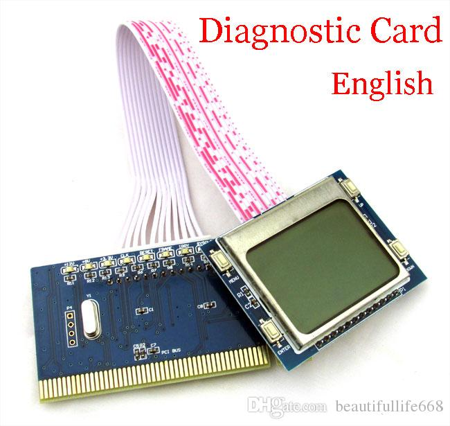 High quality New PC PCI Motherboard Analyzer Diagnostic Post Card Tester LCD display for PC Laptop, lcd post card pti9