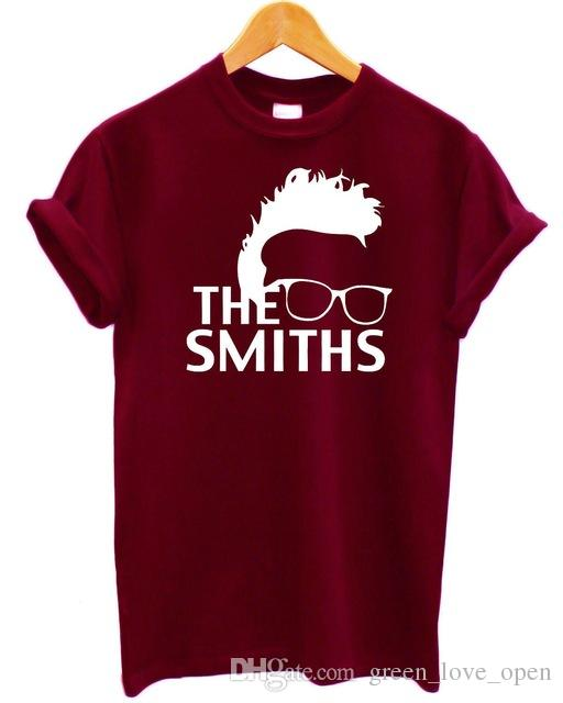 0a058eb3 The Smiths Men and Women Vintage 80'S MORRISSEY PINK RETRO PRINT SHEILA  WHITE ROCK PUNK T-Shirt Graphic Tees
