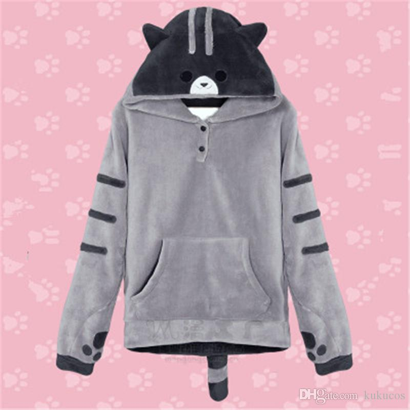 Kukucos Cat Backyard Anime Hooded Cosplay Sweater Cartoon Long Sleeved Clothes Cos Clothing Dresses Baby Costumes From