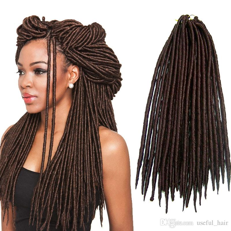 Straight 14inch 18inch Dreadlocks Braids Synthetic Hair Extension
